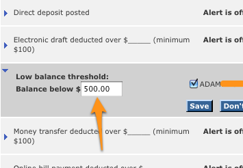 Avoid Overdraft Fees with Low Balance Alerts