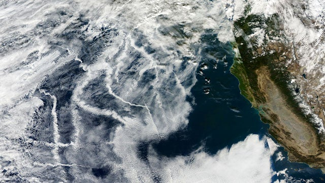 How Your Christmas Presents Were Shipped—As Seen in Clouds From Space