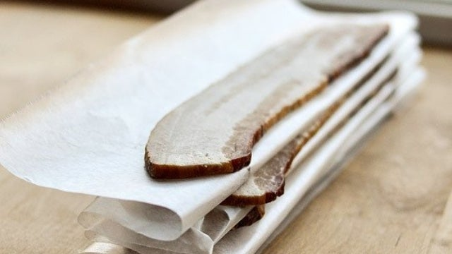 Freeze Bacon Slices Individually With Wax Paper to Avoid Waste