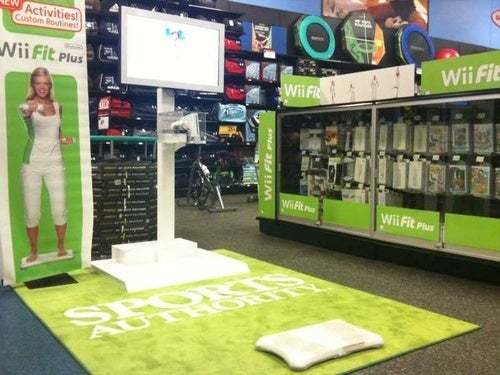 Wii Fitness Shares Store With Dumbbells, Treadmills