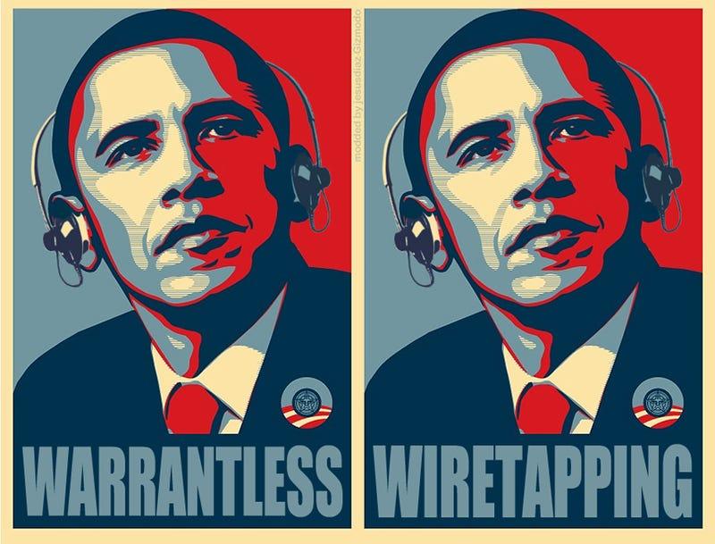 Obama Supports Warrantless Wiretapping, Just Like Bush