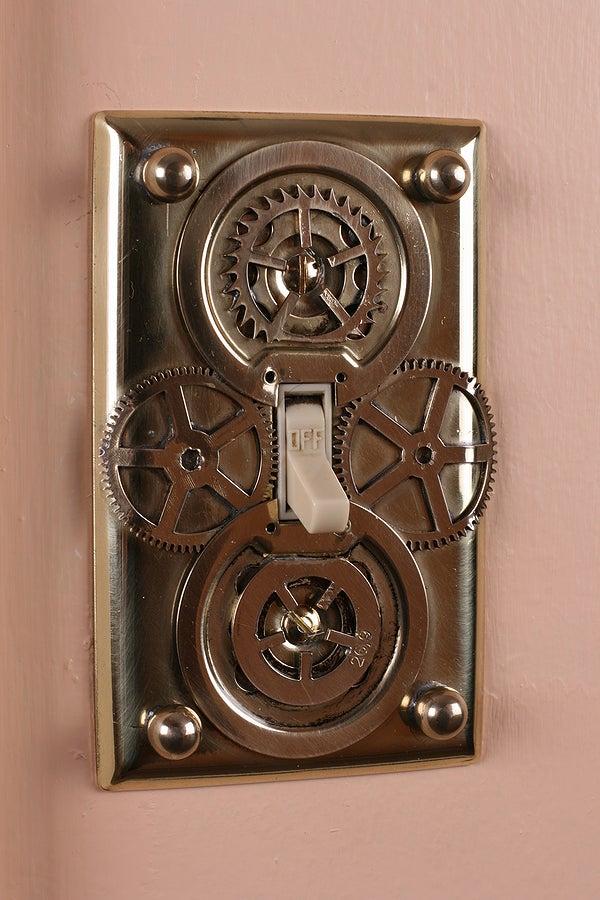 DIY Steampunk Light Switch Plates