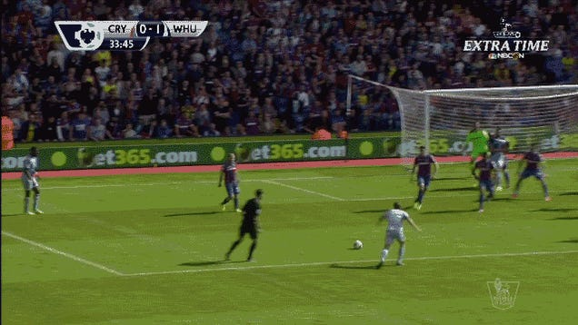 Mauro Zárate Drills Home Magnificent Volley Off The Deflection