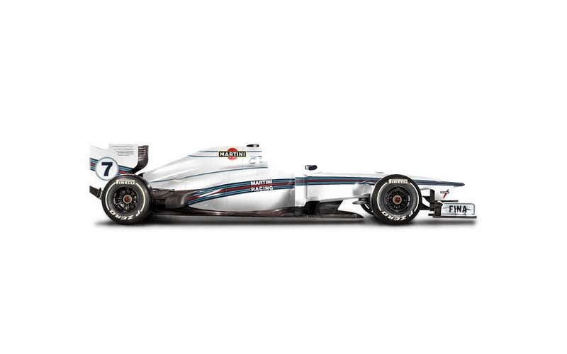 MARTINI Rumoured to be 2014 Williams F1 Title Sponsor.