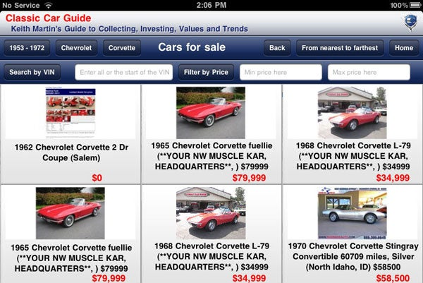 Buying a car at auction? There's an app for that