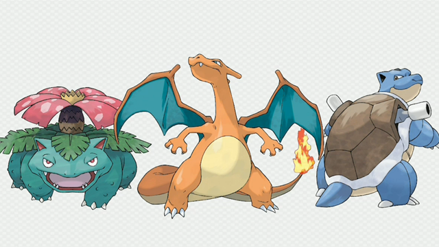 Charizard, Venusaur and Blastoise Will Have Mega Evolutions