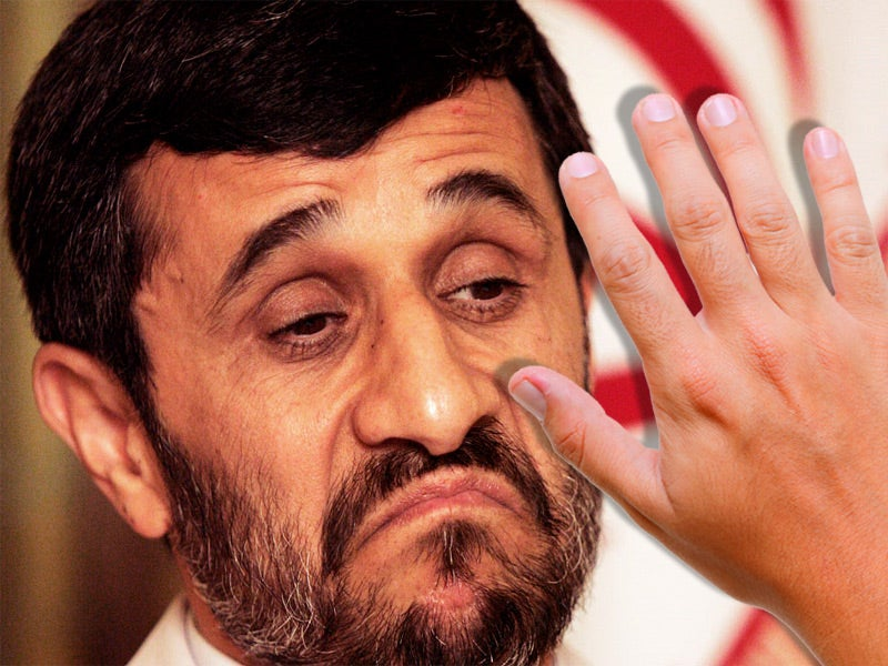 The Time Ahmadinejad Got Slapped in the Face