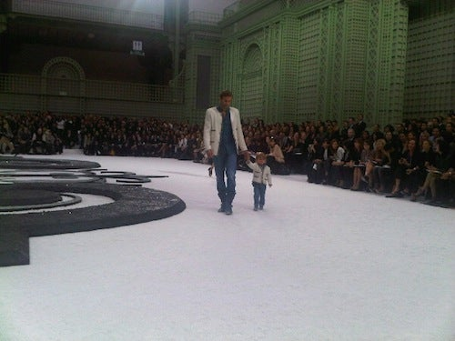 Male Model Walks Chanel Runway With His Young Son; World Swoons
