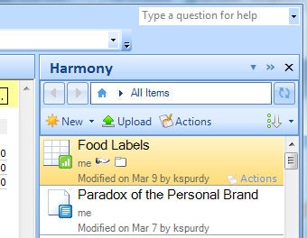 Harmony Attaches and Opens Google Docs from Outlook
