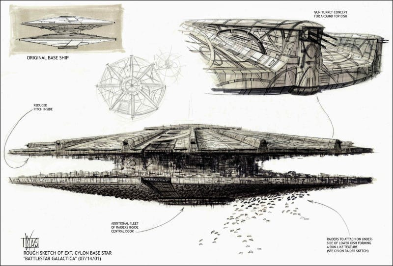 Stunning Concept Art From The Battlestar Galactica You Never Saw