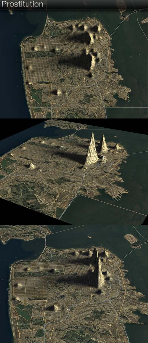 Welcome to Hooker Mountain: San Francisco's crime rate as topographical map