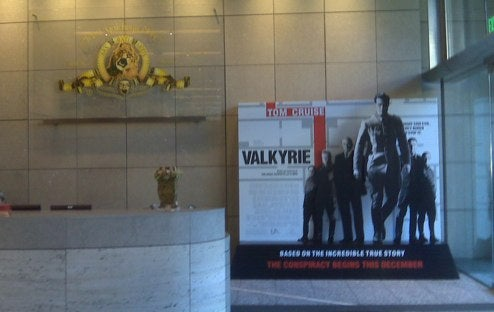 Tacky Lobby Ad Reminds MGM It Still Has To Release 'Valkyrie'