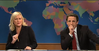 Amy Poehler and Seth Meyers Put the Smack-Down on AIG