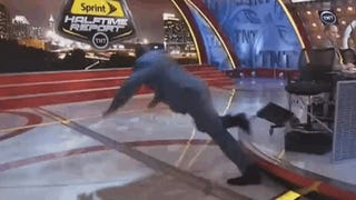 Shaq Trips, Crashes To The Floor On <i>Inside</i>