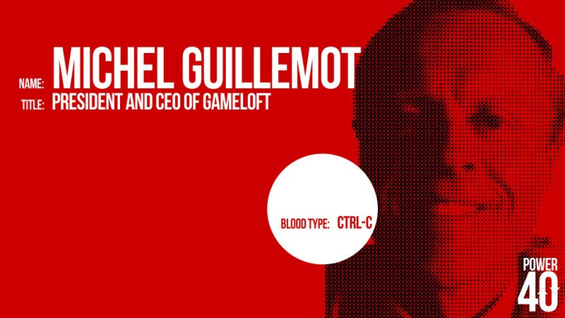↓ 29. Michel Guillemot, CEO of Gameloft