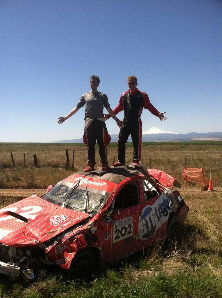 Ride Along as a Subaru Rally Car Barrel Rolls in Oregon