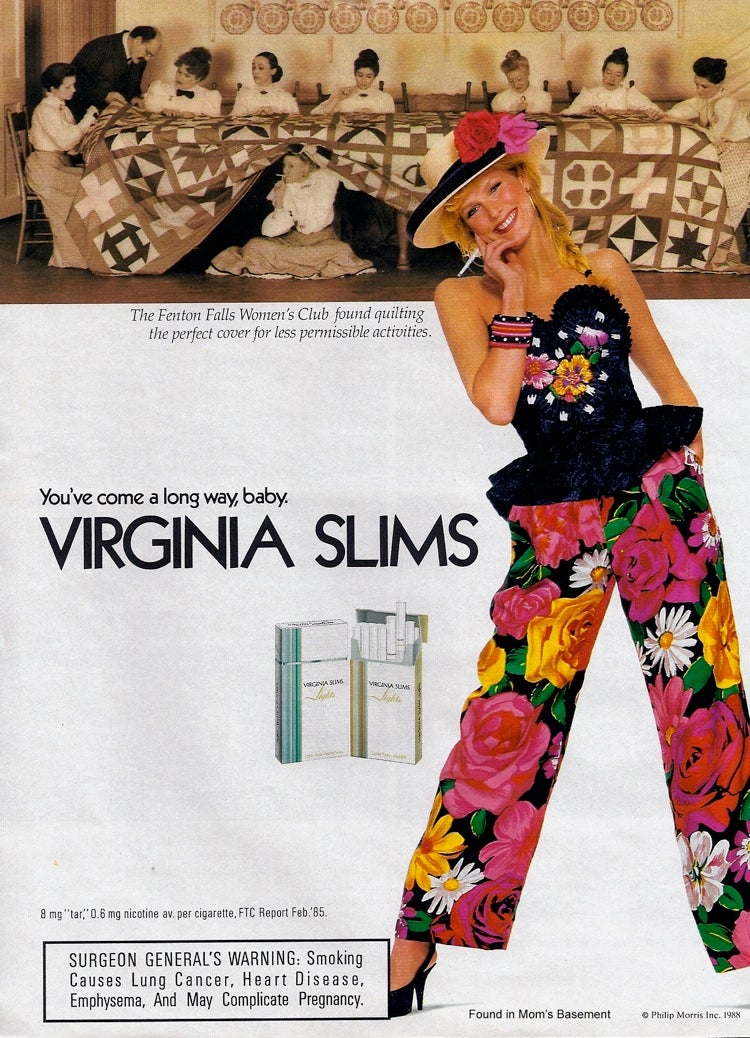 The 1980s Tries to Use Women's Love Of Wacky Pantsuits to Sell Them Cigarettes