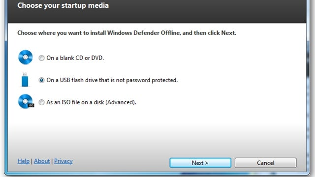Put Windows Defender on a USB Drive for Offline System Saving