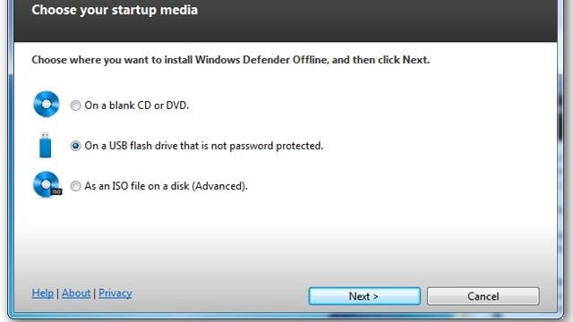 Put Windows Defender on a USB Drive for Offline System Saving