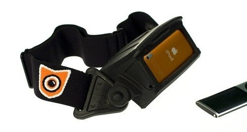 The Rampant View Head Mount. You know, for iPod Nano Spelunking