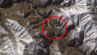 This Gigantic Landslide In Northern India Can Be Seen From Space
