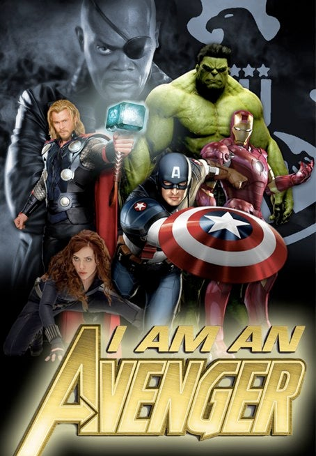 The Avengers assemble in this amazing fan-made poster