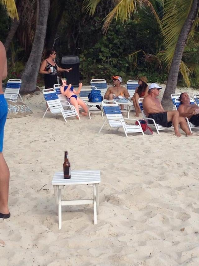 Wes Welker Chills On The Beach With His Wife And A Blowup Doll