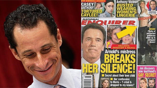 Here is Anthony Weiner Wearing Pantyhose and a Bra