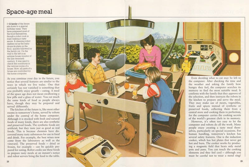 This Family Dinner of the Future From 1981 Looks Depressing as Hell