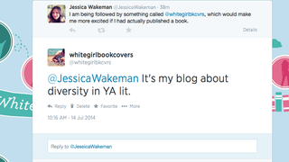 Jessica Wakeman (The Frisky) Tweeted me