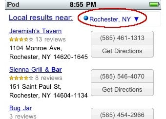 Google Mobile Adds Local Search to iPhone 3.0