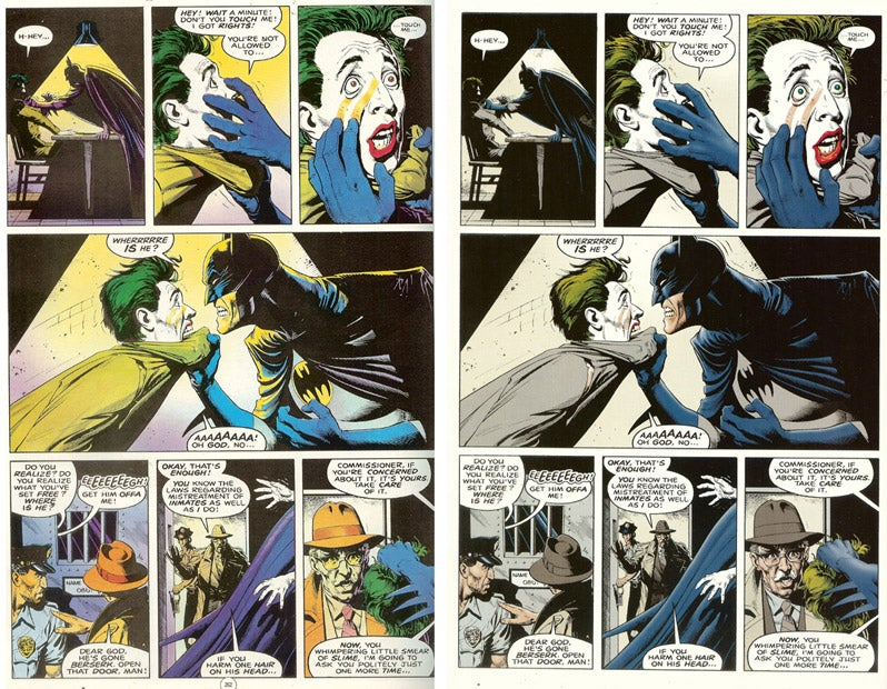 Killing Without Color In Remastered Batman Comic