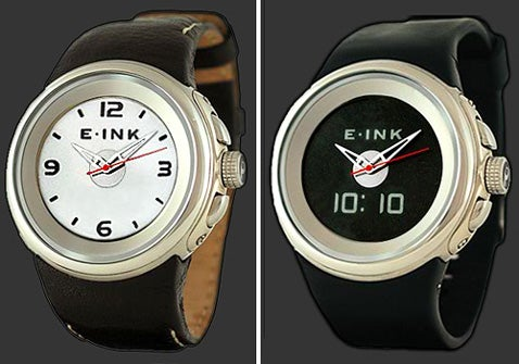 PHOSPHOR Ana-Digi Watch Features E-Ink Display