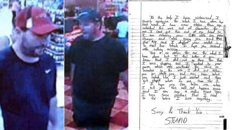 Robber Returns Wallet With Apology Note