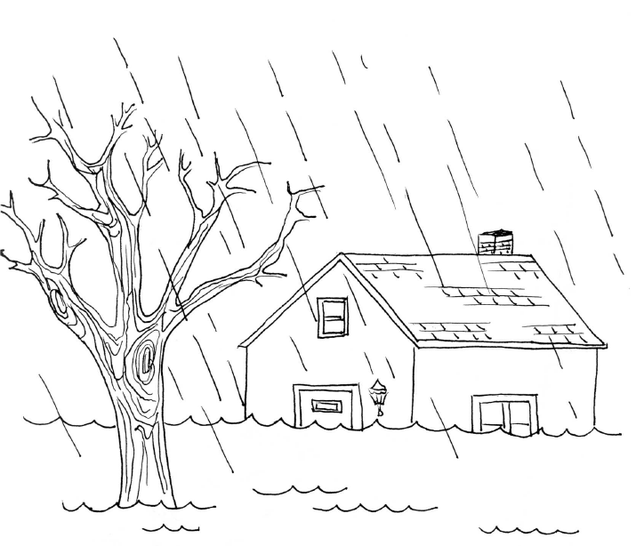Natural Disasters Coloring Pages