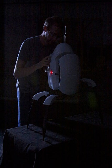 This Life-Sized Portal Turret Replica Has Its Laser Eye on You