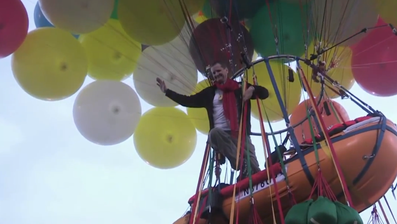 Man Flying to Europe with Helium Balloons Gives Up After Just 350 Miles