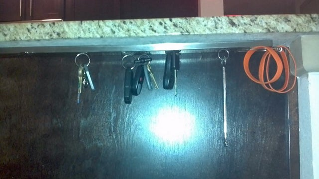 Build an Under-Cabinet Magnetic Key-Holder for Out of The Way Key Storage