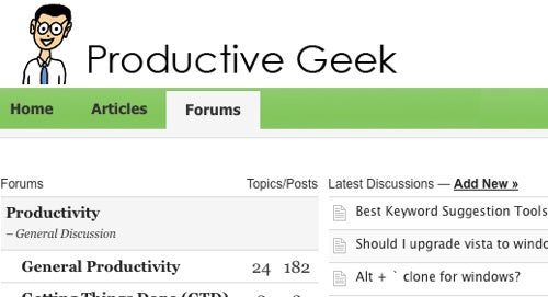 Productive Geek Is a Forum for Flexing Your Productivity Muscles