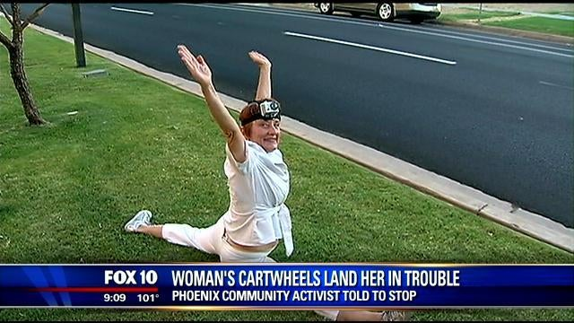 Woman Banned from Doing Cartwheels at Public Meetings