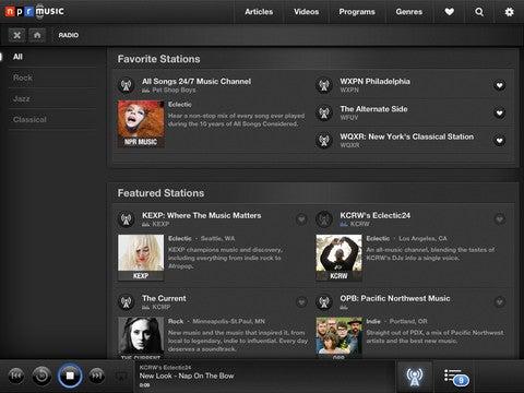 NPR Music iPad App Gallery