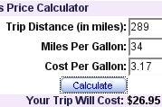MapQuest Adds Gas Cost Calculator
