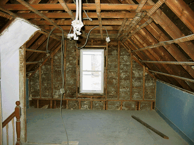 Before and After: Barren Attic to Programmer's Paradise