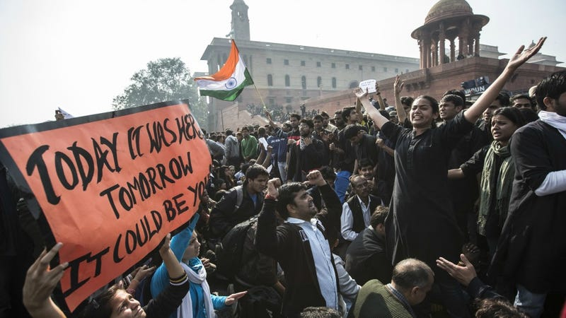 New Delhi Police Blast Growing Anti-Rape Protests With Tear Gas