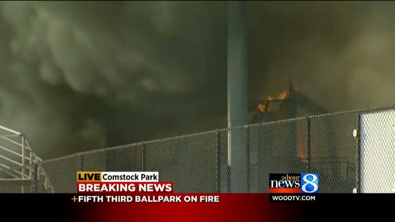 Fifth Third Ballpark Is On Fire