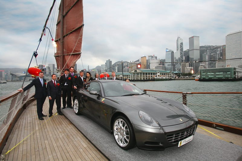 1000th Hong Kong Ferrari Delivered On Junk Ship