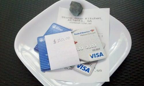 Use Napkin Wrappers to Split Restaurant Bills on Cards