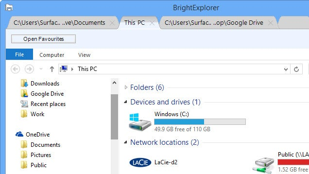 ​BrightExplorer Adds Clutter-Reducing Tabs to Windows Explorer