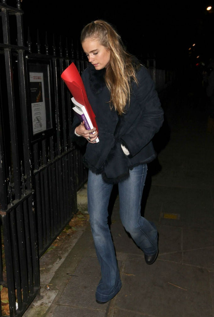 This Book Cressida Bonas Is Carrying Is NOT A Message To Prince Harry