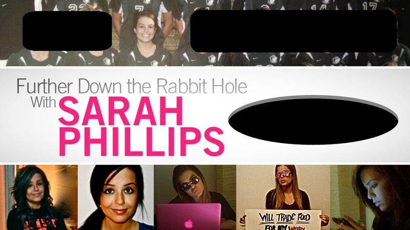 "Another Sarah Phillips Scam: ""I'm A Writer For ESPN And I Have A Plan To Take Over The World"""